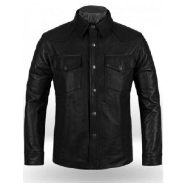 Men Leather Shirt