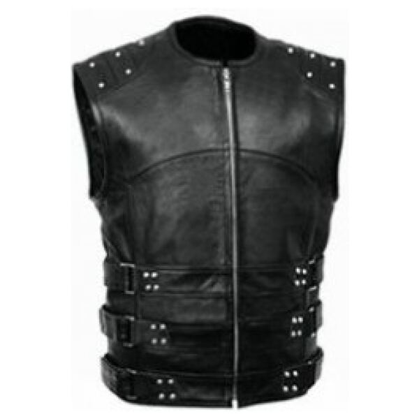 Leather Buckled Vest