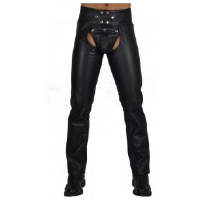 Black Men Leather Chaps