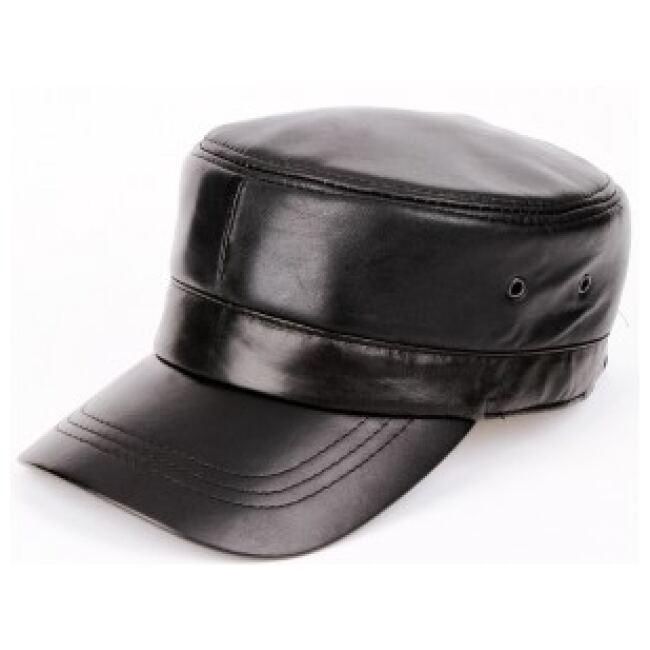 Leather Peaked Cap