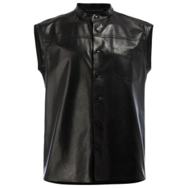 Sleeveless Leather Shirt