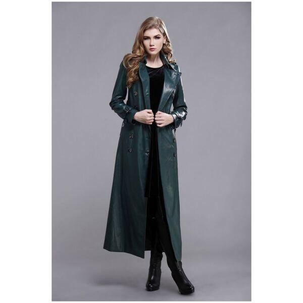 leather women coat